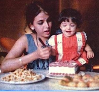 Aishwarya Rai celebrated her first year birthday with her mother on the side