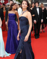 Aishwarya Rai in dark blue gown on red carpet.PNG