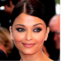 Aishwarya Rai face close up picture with her updo hairstyle looking so beautiful.PNG