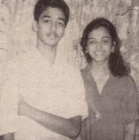 Aishwarya Rai childhood photo with her brother.PNG