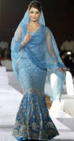Aishwarya Rai in blue traditional outfit