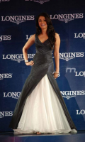 Aishwarya Rai in her pretty gown in black and white