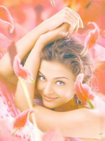Aishwarya Rai picture surrounding with pink flowers.PNG