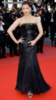 2010 Aishwarya Rai on red carpet with shinny black gownq.PNG