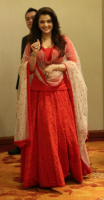 Aishwarya in red Indian fashion 2013.PNG